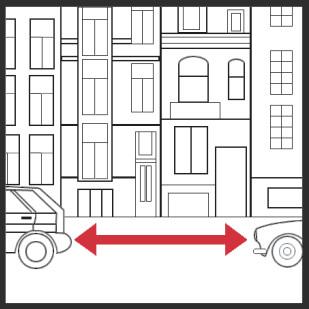 2. Sie reservieren für den Tag der Auslagerung einen Parkplatz vor Ihrer Haustür